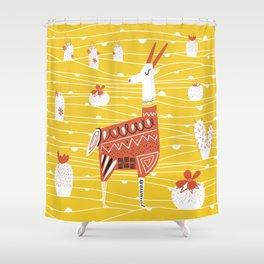 Antelope in the desert Shower Curtain