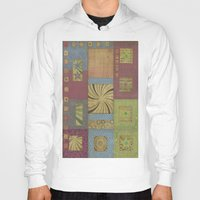 quilt Hoodies featuring quilt swirl by Ray Stephenson