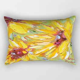 Summer Sunflowers Rectangular Pillow