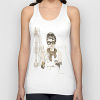 notebook Tank Tops featuring My breakfast at Tiffany's by Cecilia Sánchez