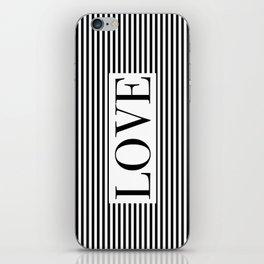 Monochromatic Love iPhone Skin