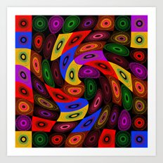 t017 Colorful Abstract. Art Print
