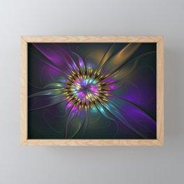 Fantasy Flower Fractal Framed Mini Art Print