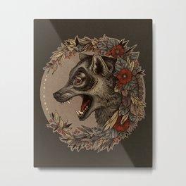 A Little Wolf Moon Metal Print