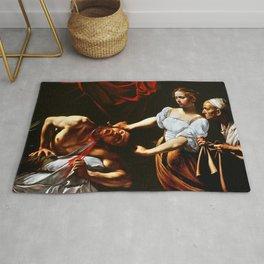 Caravaggio Judith Beheading Holofernes Rug
