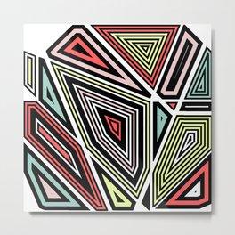 Through This Maze Metal Print