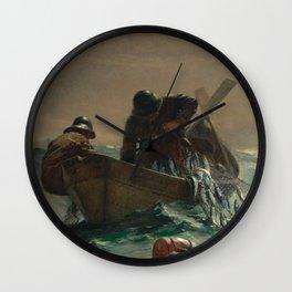 Winslow Homer - The Herring Net, 1885 Wall Clock