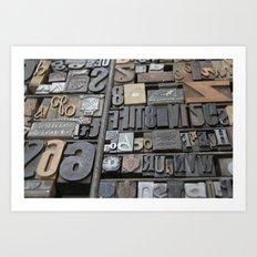 Typeface  Art Print