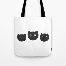 Cat Faces Tote Bag