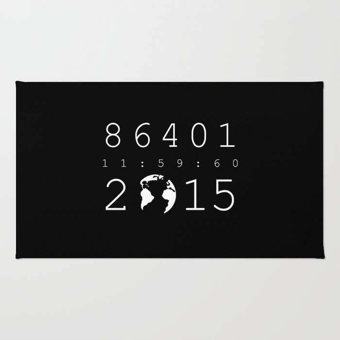 86401 Leap Second 2015 (white version) Rug