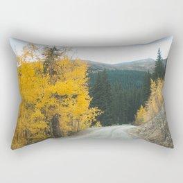 Yellow Leaf Road - Colorado Aspen Rectangular Pillow