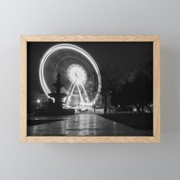 Budapest Wheel. Framed Mini Art Print