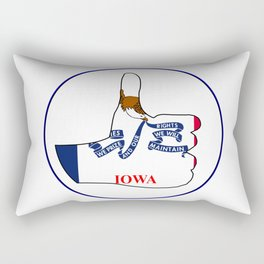 Thumbs Up Iowa Rectangular Pillow