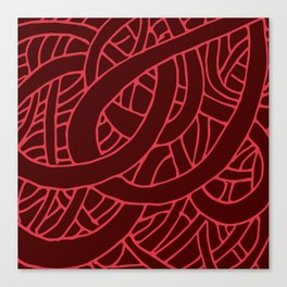 Microcosm in Red Canvas Print