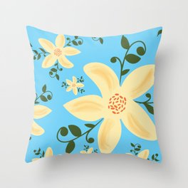 Springy Flowers Throw Pillow