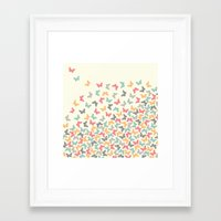 butterflies Framed Art Prints featuring Butterflies by Juste Pixx Designs