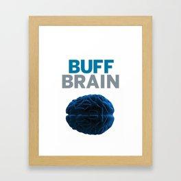 Buff Brain Framed Art Print