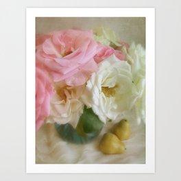 Roses & Pears Art Print