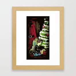 With a Ribbon on Top - Illustration Framed Art Print