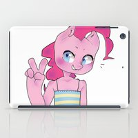 mlp iPad Cases featuring Pinkie Pie Anthro Peace Sign MLP by oouichi