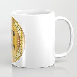 Martin Van Buren Gold Metal Stamp Coffee Mug