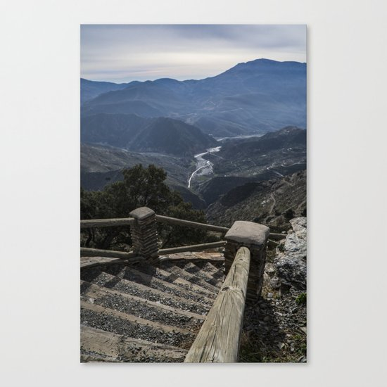 A view to the valley Canvas Print