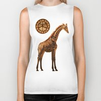 giraffes Biker Tanks featuring Three Giraffes by Waelad Akadan