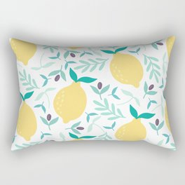 Lemon & Blueberry Pastel Rectangular Pillow