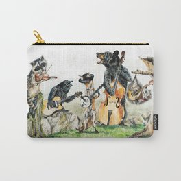 """"""" Bluegrass Gang """" wild animal music band Carry-All Pouch"""