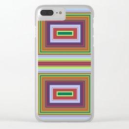 Alchemical Colour Pattern 2 Clear iPhone Case