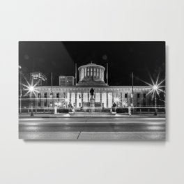 Columbus State House Long Exposure Metal Print