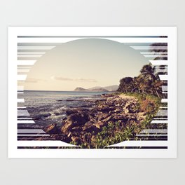 Shore Break  Art Print