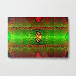 Play with colored pattern 1 ... Metal Print
