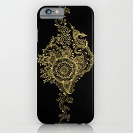 Sea shell - Gold iPhone Case