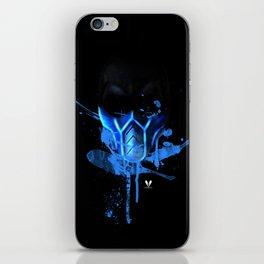 zero below black iPhone Skin