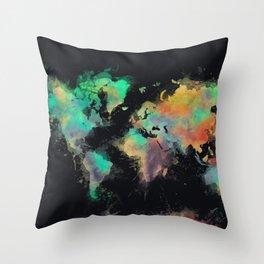 world map 107 #worldmap #map Throw Pillow