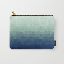 Gradient Pixel Aqua Carry-All Pouch