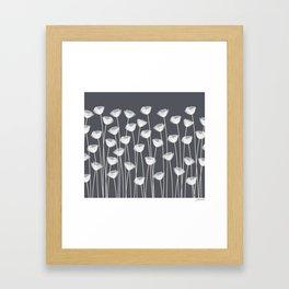 White Poppies Framed Art Print