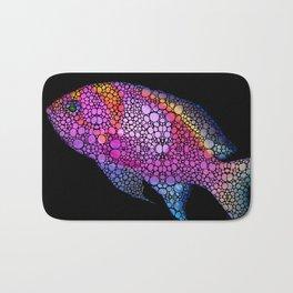 Tropical Fish 7 - Pink Art By Sharon Cummings Bath Mat