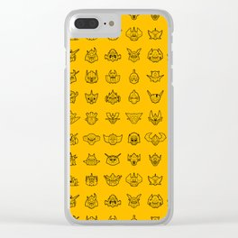 071 70s Robots Clear iPhone Case
