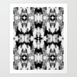 Tie Dye Blacks Art Print