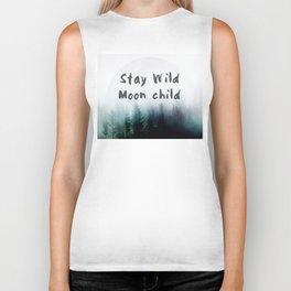 Stay wild moon child watercolor Biker Tank