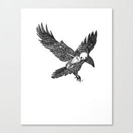 Crow Animus Canvas Print