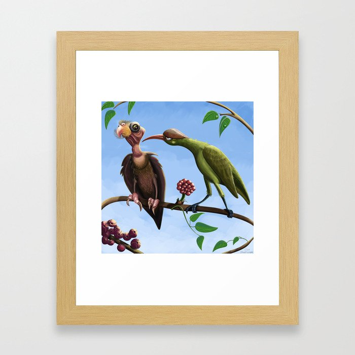 Whimsical  birds Framed Art Print
