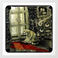 cinderella Art Prints featuring Cinderella by Sylwia Telari