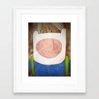 finn Framed Art Prints featuring finn by MAKE ME SOME ART