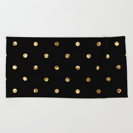 Black & Gold Beach Towel