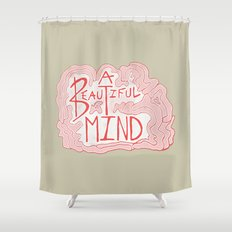 A Beautiful Mind Shower Curtain