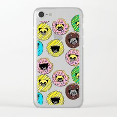 Pug Donuts Clear iPhone Case