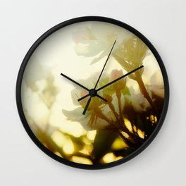 roses in the morning sun Wall Clock